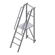 Передвижная лестница-платформа фиксированной высоты ALUR ЛПФВА-1,25П