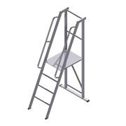Лестница-платформа фиксированной высоты с траверсой ALUR ЛПФВА-2Т