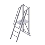 Передвижная лестница-платформа фиксированной высоты с траверсой ALUR ЛПФВА-1,75ТП