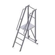 Передвижная лестница-платформа фиксированной высоты с траверсой ALUR ЛПФВА-2ТП