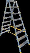 Двухсторонняя анодированная стремянка Алюмет 8 ступеней APD9208