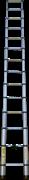 Алюминиевая телескопическая лестница Алюмет 4,1 м 14 ступеней TLS4.1