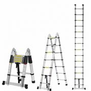 Двухсторонняя телескопическая лестница с шарниром Алюмет 7+7 ступеней DTLH2.2