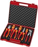 Набор инструмента 7 предметов для электромонтажа, в чемодане KNIPEX KN-002115