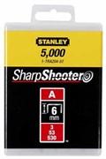 Скоба для степлера 6 мм тип А 5/53/530 1000шт Stanley 1-TRA204T