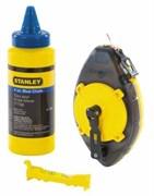 Набор шнуровка 30 м, голубой краситель 115 г, уровень Stanley 0-47-465
