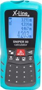Дальномер лазерный Sniper 80 Calculator X-Line X00132