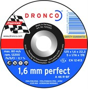 Отрезной круг по металлу A 46 R 125х1,6х22,23 DRONCO 1120250