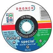 Отрезной круг по металлу ACS46/ACS 60 T 125х1,2х22,23 DRONCO 1121360