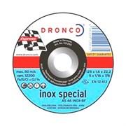 Отрезной круг по металлу AS 46 Inox 115х1,6х22,23 DRONCO 1111250