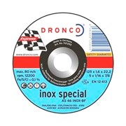 Отрезной круг по металлу AS 46 Inox 230х1,9х22,23 DRONCO 1233250
