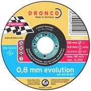 Отрезной круг по металлу AS 60 W Inox 125х0,8х22,23 DRONCO 6900843