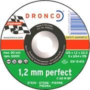 Отрезной круг по камню, плитка, мрамор C 60 R 125х1х22,23 DRONCO 1125000
