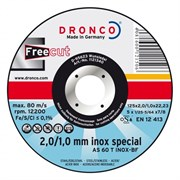 Отрезной круг по металлу AS 60 T Inox Free 125х2/1х22,23 DRONCO 1121340