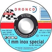 Отрезной круг по металлу AS 60 T Inox 115х1х22,23 DRONCO 1111240