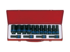 Комплект глубоких ударных торцевых головок 6 гранная 10-32 мм KING TONY 4415MP03