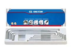 Комплект шестигранников экстрадлинных 1/8-9/16 дюймов 8 пр. KING TONY 20208SR01