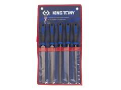Комплект напильников с 2-х компонентными ручками, 5пр. KING TONY 1005GQ