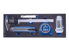 Комплект измерительного инструмента в ложементе EVA, 5 предметов KING TONY 9-90305TQV