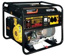 Бензиновый генератор с колёсами и аккумулятором Huter DY6500LX