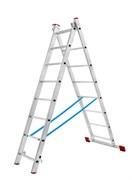 Алюминиевая двухсекционная лестница АЛ 2х6 П60