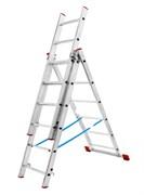 Алюминиевая трехсекционная лестница АЛ 3х18 П80