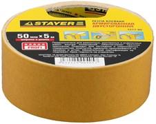 Двусторонняя лента Stayer Profi на тканевой основе, 50мм, 5м 1217-05