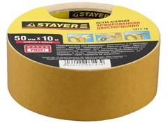Двусторонняя лента Stayer Profi на тканевой основе, 50мм, 10м 1217-10