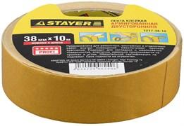 Двусторонняя лента Stayer Profi на тканевой основе, 38мм, 10м 1217-38-10