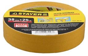 Монтажная лента Stayer Profi на полипропиленовой основе, 38мм, 25м 1221-38-25