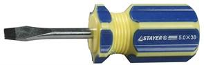 Шлицевая отвертка Stayer Master короткая, SL6 38мм 2509-38-6,0