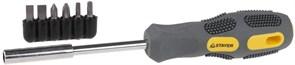Отвертка с набором бит Stayer Max Grip 1/4 7шт 2587-H7 G