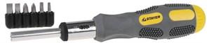 Отвертка с набором бит Stayer Max Grip 1/4 7шт 2588-H7 G