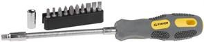 Отвертка с набором бит Stayer Max Grip 1/4 12шт 2590-H12 G
