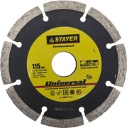 "Отрезной диск Stayer ""MASTER"" алмазный, сегментный 115мм 3660-115_z01"