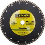 """Отрезной диск Stayer """"PROFESSIONAL"""" алмазный, сегментный 230мм 3662-230_z01"""
