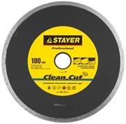 """Отрезной диск Stayer """"PROFESSIONAL"""" алмазный, сплошной 180мм 3664-180_z01"""