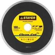 """Отрезной диск Stayer """"PROFESSIONAL"""" алмазный, сплошной 180мм 3665-180_z01"""