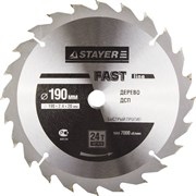 "Диск пильный Stayer ""MASTER-FAST-Line"" 190мм 24T 3680-190-20-24"
