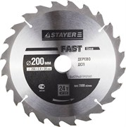 "Диск пильный Stayer ""MASTER-FAST-Line"" 200мм 24T 3680-200-30-24"