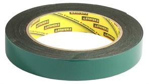 Монтажная лента Stayer Profi на вспененной основе, 19мм, 5м 12233-19-05
