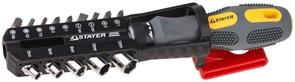 Отвертка с набором бит Stayer Max Grip 1/4 15шт 25923-H15 G