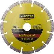 """Отрезной диск Stayer """"MASTER"""" алмазный, сегментный 150мм 36671-150"""