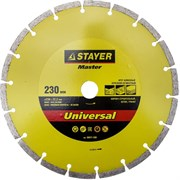 """Отрезной диск Stayer """"MASTER"""" алмазный, сегментный 230мм 36671-230"""
