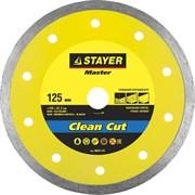 """Отрезной диск Stayer """"MASTER"""" алмазный, сплошной 125мм 36675-125"""