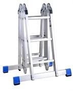 Алюминиевая лестница-трансформер Зубр с платформой, 4х3 38861