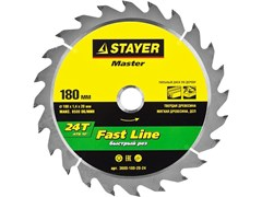 "Диск пильный Stayer ""MASTER-FAST-Line"" 190мм 24T 3680-190-16-24"