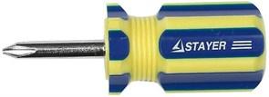 Крестовая отвертка Stayer Master-Stubby короткая, PH1 38мм 2510-38-1_z01