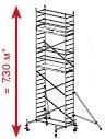 Алюминиевая вышка-тура Krause ProTec 7,3м 910158