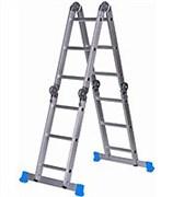 Алюминиевая двухсекционная шарнирная лестница Алюмет 2x5 Т 205